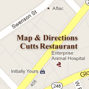 Map & Directions to Cutts Restaurant in Enterprise, Alabama